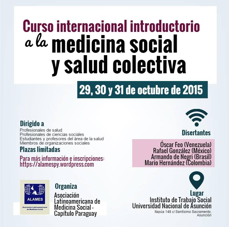 Medicina social y salud colectiva serán temas de curso internacional ...