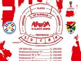 Entradas, estadio, Paraguay, Bolivia