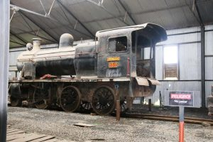 Vágon del primer ferrocarril a vapor del Paraguay.