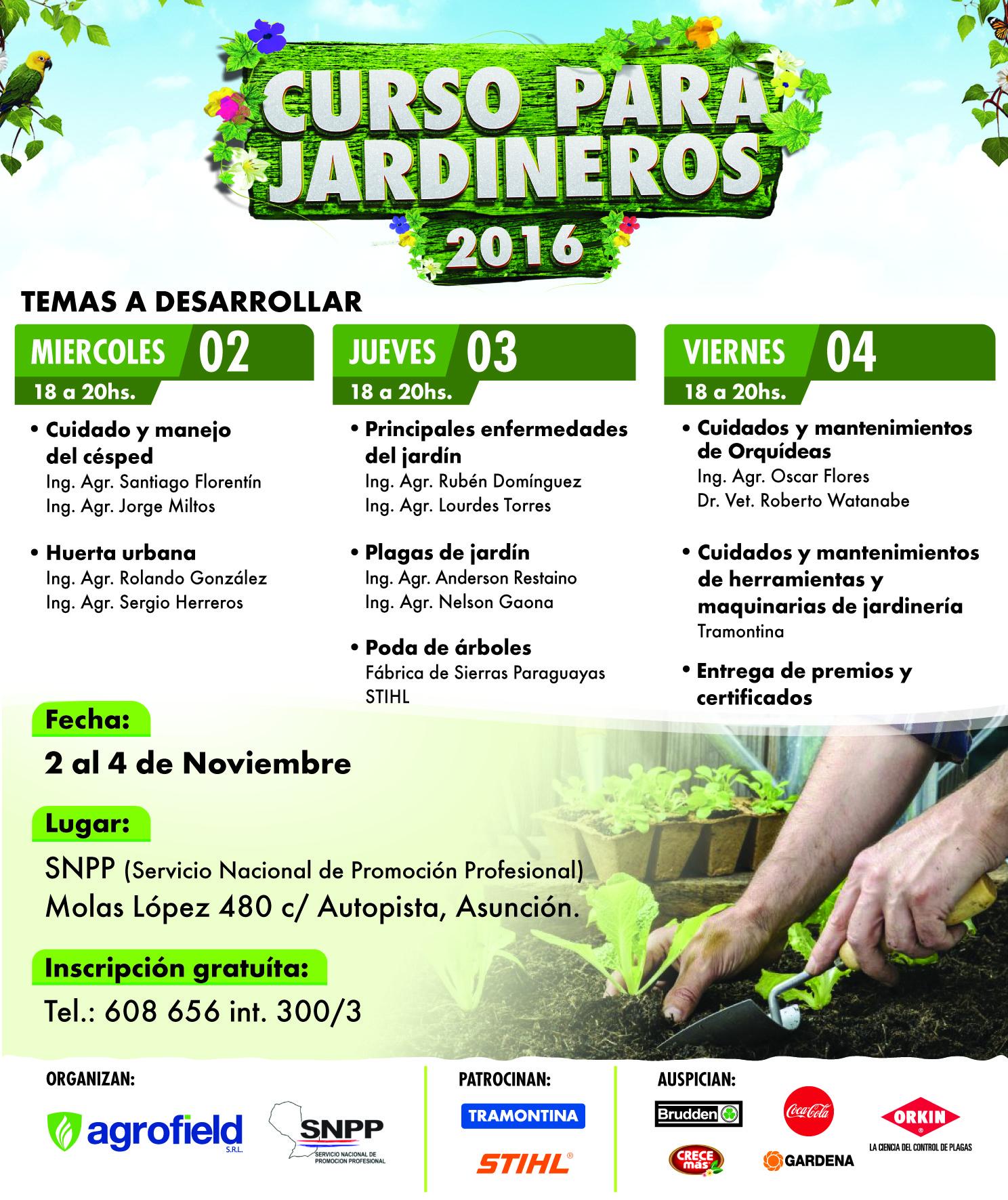 El mi rcoles inicia curso de jardiner a en el snpp for Aprender jardineria