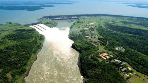 Vista aérea de la imponente represa Itaipu Foto: Gentileza Itaipu