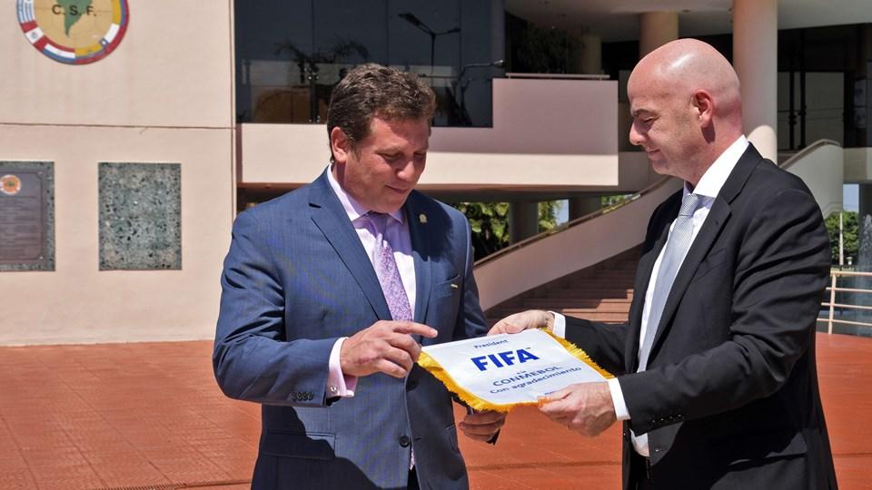 Presidente de la Conmebol es director de finanzas de la FIFA
