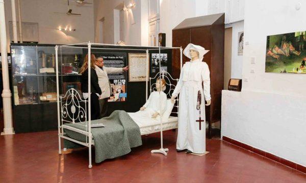 Algunas de las muestras expuestas en el Museo del Hospital de Clínicas Foto: SNC