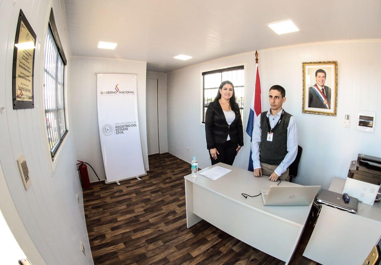Gobierno inaugur obras y entreg herramientas a for Oficina registro civil