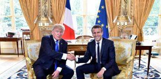 """Resultado de imagem para Macron a Trump: """"nada separará jamás"""" a EEUU y Francia"""