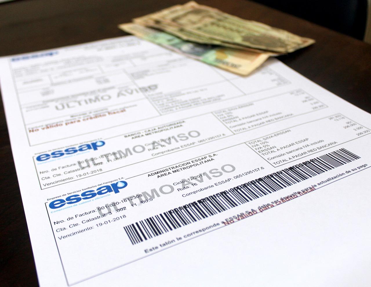 usuarios podrán consultar facturas de essap de manera online