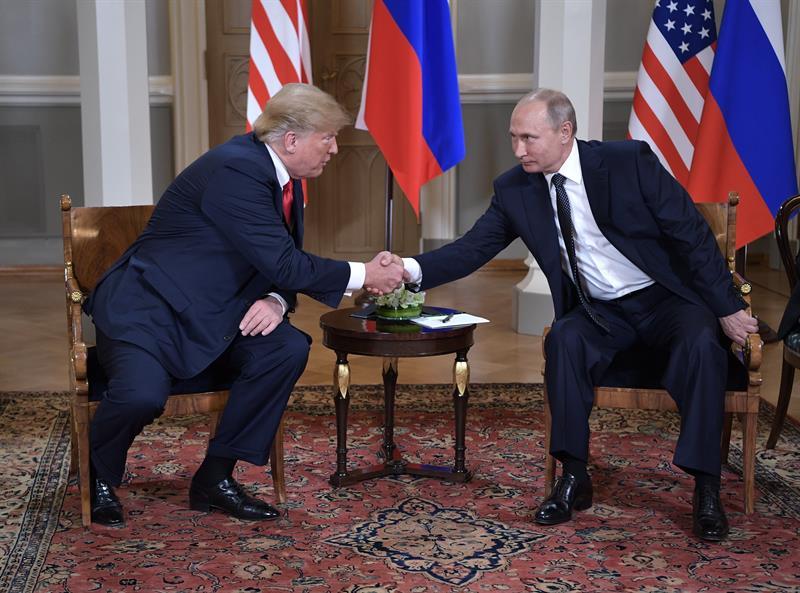 Trump felicitó a Putin ya la selcción francesa