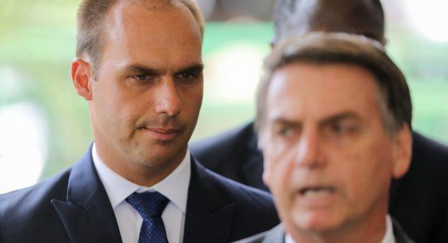 Hijo de Bolsonaro se reúne con yerno de Trump — Lazos familiares