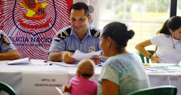 USF coordina con la Policía Nacional cedulación a ciudadanos de Paso de Patria