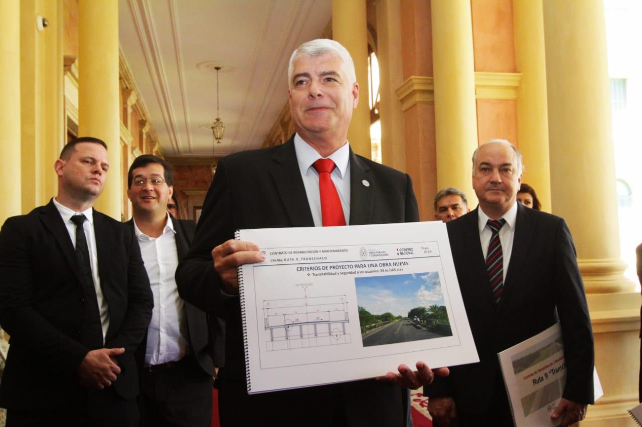 MOPC recibió diseños finales e iniciará licitación para reconstruir la ruta Transchaco