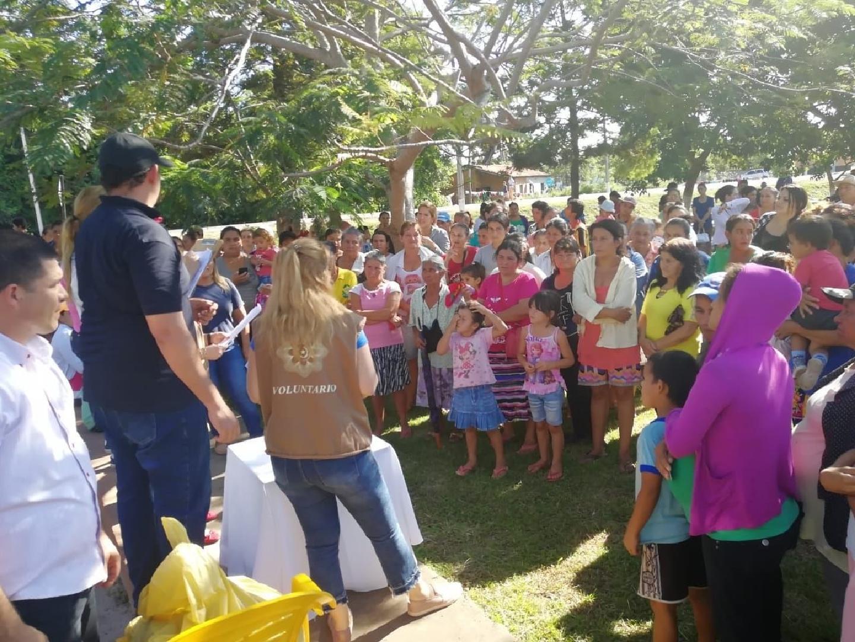 """Entregan víveres por """"Paraguay Solidario"""" a familias de San Pedro y Cordillera"""