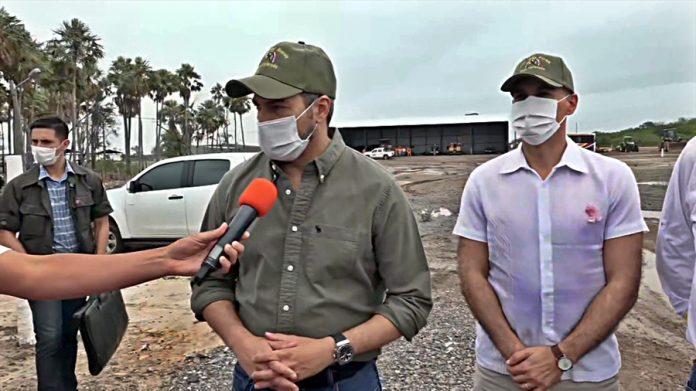 mario abdo entrevista con paraguay tv en jornada de Gobierno en Pozo Colorado, Chaco